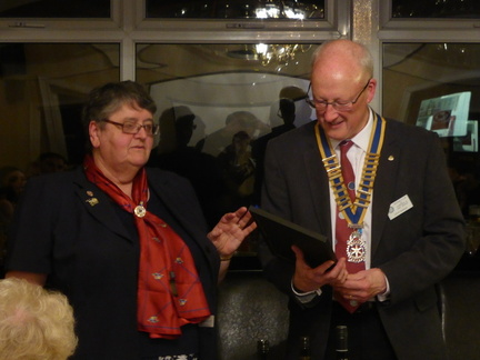 DG Margaret presenting Community Award to the President