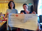 Cheque to MacMillan Cancer Support