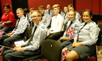 Smiling Air Cadets at the Proms
