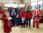 Santa, Elves, Fairy Godmother at Tesco 2016